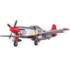 FMS 1450MM P-51D MUSTANG V8 ARTF w/REFLEX GYRO - RED TAIL