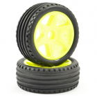 FTX COMET BUGGY FRONT MOUNTED TYRE & WHEEL YELLOW