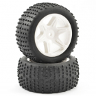 FTX COMET BUGGY REAR MOUNTED TYRE & WHEEL WHITE