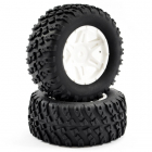 FTX COMET DESERT BUGGY/SC REAR MOUNTED TYRE & WHEEL WHITE