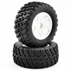 FTX COMET DESERT BUGGY FRONT MOUNTED TYRE & WHEEL WHITE