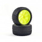 FTX COMET TRUGGY FRONT MOUNTED TYRE & WHEEL YELLOW