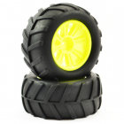 FTX COMET MONSTER REAR MOUNTED TYRE & WHEEL YELLOW