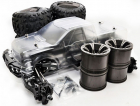 HOBAO HYPER MT PLUS ELECTRIC MONSTER TRUCK 80% ROLLING CHASSIS