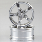 KILLERBODY WHEEL 3MM OFFSET CHROME 5-SPOKE 1/10 TC (4)
