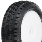 PROLINE MINI-B WEDGE TYRES MOUNTED ON WHITE WHEELS FRONT