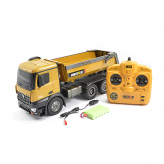HUINA RC TIPPER/DUMP TRUCK 2.4G 10CH WITH DIE CAST CAB, BUCKETS and WHEELS