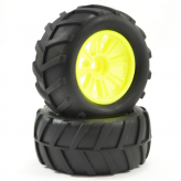 FTX COMET MONSTER FRONT MOUNTED TYRE & WHEEL YELLOW