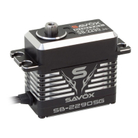 SAVOX HV CNC MONSTER BRUSHLESS SERVO 50KG@7.4V - BLACK