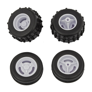 TEAM ASSOCIATED RC28 WHEELS & TYRES MOUNTED (F & R)