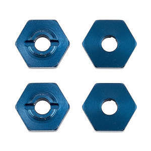 TEAM ASSOCIATED REFLEX 14B/14T FT WHEEL HEXES BLUW ALUM. (4)
