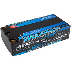 REEDY WOLFPACK HV-LIPO 4200MAH 50C 7.6V LIPO SHORTY BATTERY