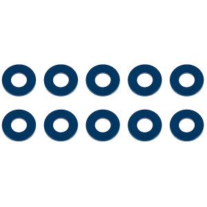 ASSOCIATED WASHERS 7.8 x 3.5 x 0.5mm BLUE ALUMINIUM (10)