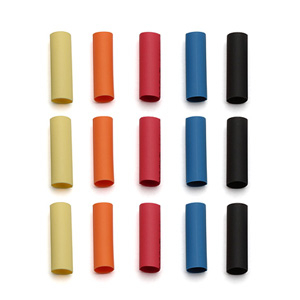 REEDY SHRINK TUBING 15 PIECES (3 OF EACH COLOUR)
