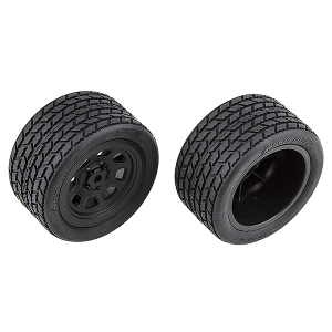 TEAM ASSOCIATED SR10 REAR WHEELS WITH STREET STOCK TYRES