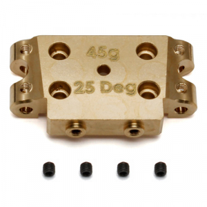 ASSOCIATED B5/B5M FACTORY TEAM BRASS BULKHEAD 25 DEGREE (45g)