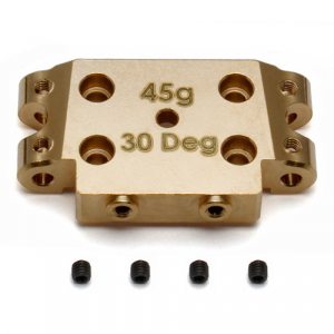ASSOCIATED B5/B5M FACTORY TEAM BRASS BULKHEAD 30 DEGREE (45g)