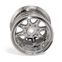 Axial Racing 8 Spoke Oversize Bead Lock Wheel - Chrome (2)