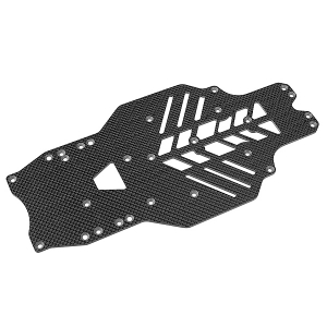 CORALLY CHASSIS SSX10 GRAPHITE 2.5MM 1 PC