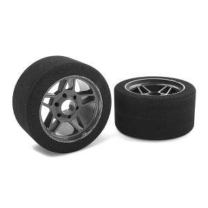 CORALLY ATTACK FOAM TIRES 1/8 CIRCUIT 32 SHORE FRONT CARBON RIMS 2PCS