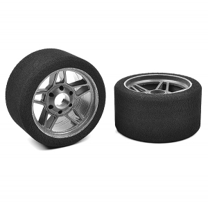 CORALLY ATTACK FOAM TIRES 1/8 CIRCUIT 30SHORE FR CARBON 69mm