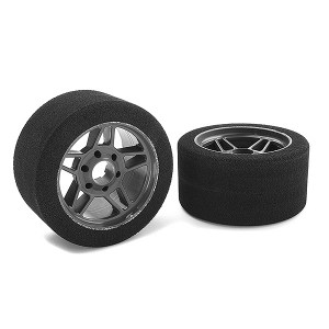 CORALLY ATTACK FOAM TIRES 1/8 CIRCUIT 32SHORE FR CARBON 69mm