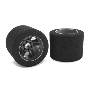 CORALLY ATTACK FOAM TIRES 1/8 CIRCUIT 32 SHORE REAR CARBON RIMS 2PCS