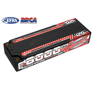 CORALLY VOLTAX 120C LIPO HV BATTERY 8000 MAH 7.6V STICK 2S 4