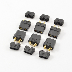 CENTRO XT-90 BLACK FEMALE CONNECTORS (6PC)
