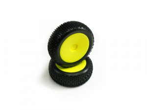Carisma GT14B Neon Yellow Standard Pre-Glued Front Tyres