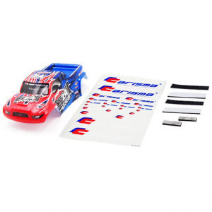 CARISMA GT24T TRUCK BODY PAINT ED BODY SET (RED/BLUE)