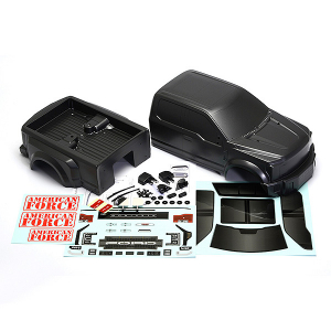 CEN RACING FORD F-450 SD COMPLETE BODY SET (GREY TITANIUM)
