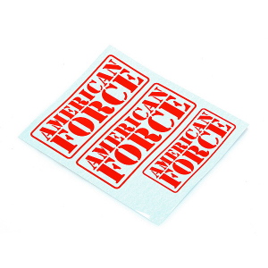 CEN RACING AMERICAN FORCE DECAL (RED)