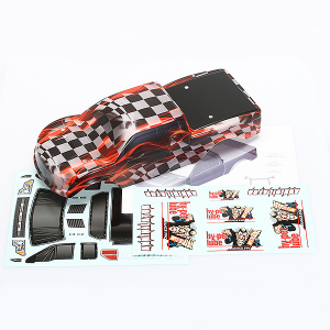 CEN RACING HY-PER LUBE 150 PAINTED BODY W/ DECAL
