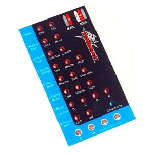 TOMCAT SKYLORD ESC PROGRAMMING CARD