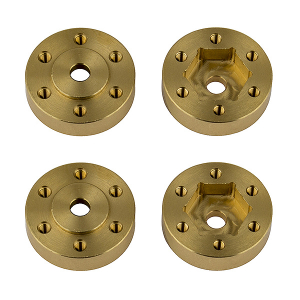 ELEMENT RC FT ENDURO BEADLOCK HEX ADAPTERS, BRASS