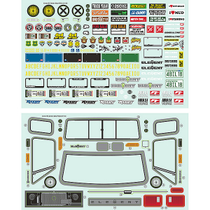 ELEMENT RC SENDERO BODY DECAL