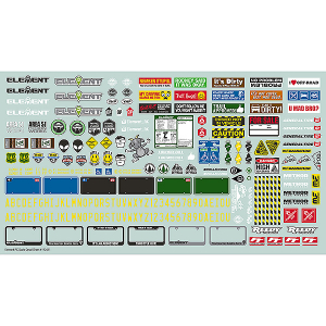 ELEMENT RC ELEMENT SCALE DECAL SHEET