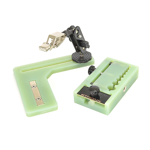 ETRONIX CONNECTOR SOLDERING JIG BOARD W/HELPER and STORAGE BOX