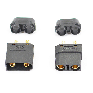 ETRONIX XT-90 CONNECTOR (MALE/FEMALE) BLACK