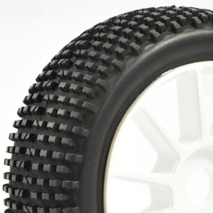 Fastrax 1/8th Premounted Buggy Tyres 'h Tread/10 Spoke