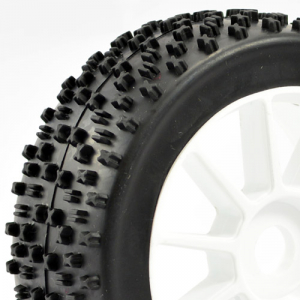 Fastrax 1/8th Premounted Buggy Tyres 'maths /10 Spoke