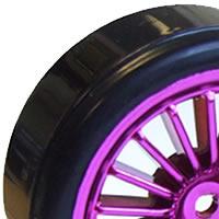 Fastrax 1/10th Street Wheel/ Drift Tyres 20-Spoke Purple