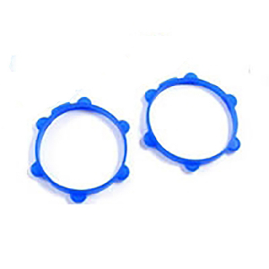 Fastrax 1/8th Rubber Tyre Bands Blue (4)