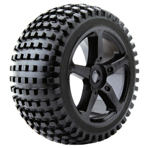 FASTRAX 1:8 TRUGGY ROCK MTD ON 5-SPOKE BLACK 0 OFFSET(PR)