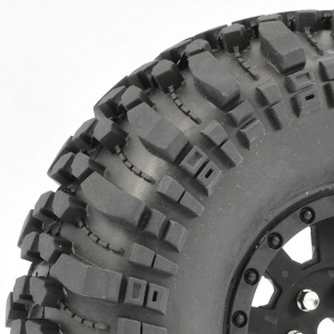 FASTRAX 1:10 CRAWLER ROCKO 1.9 MOUNTED SCALE WHEEL BLACK
