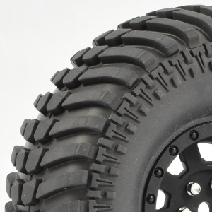 FASTRAX 1:10 CRAWLER PASO 1.9 MOUNTED SCALE WHEEL BLACK