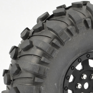 FASTRAX 1:10 CRAWLER BOXER 1.9 MOUNTED SCALE WHEEL BLACK