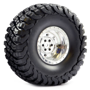 FASTRAX 1:10 CRAWLER GRANITE 2.2 SCALE WHEEL ø140MM TYRE (CHROME)
