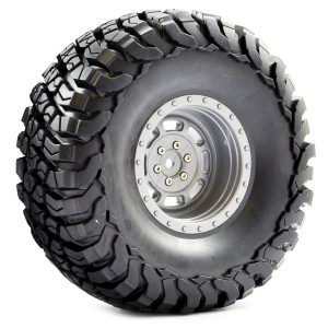 FASTRAX 1:10 CRAWLER GRANITE 2.2 SCALE WHEEL ø140MM TYRE (GREY)